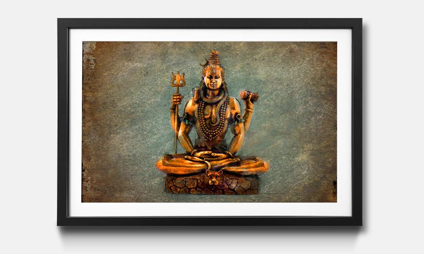 Das gerahmte Wandbild Lord Shiva