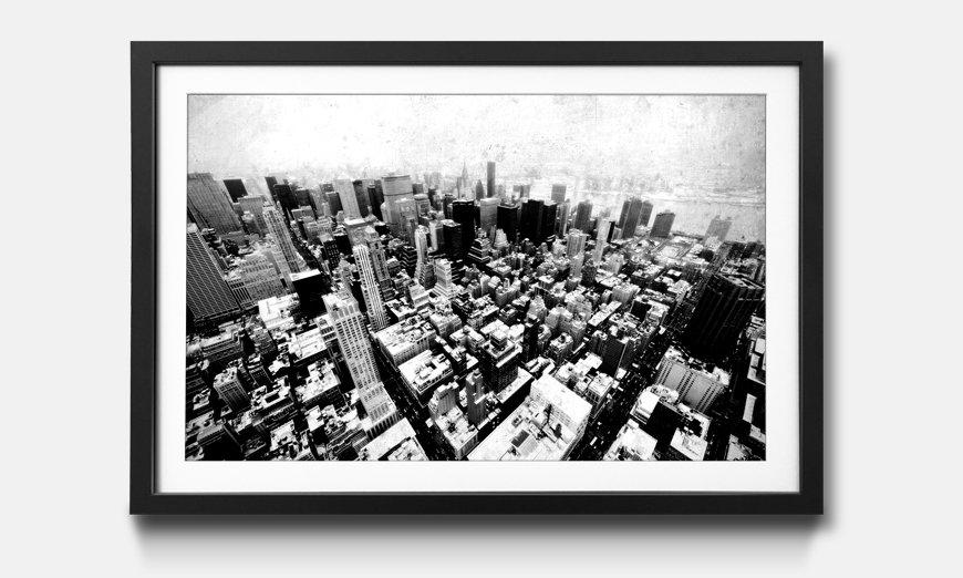 Das gerahmte Wandbild New York Vintage Retro