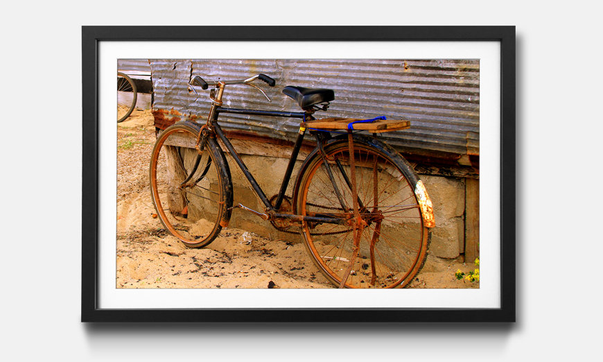 Das gerahmte Wandbild Old Bicycle