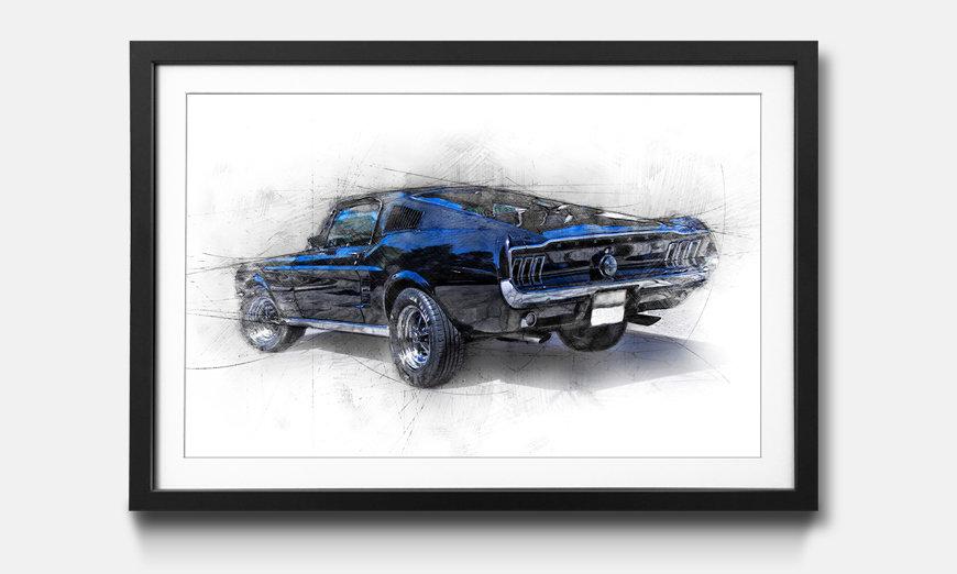 Das gerahmte Wandbild Pure  Mustang