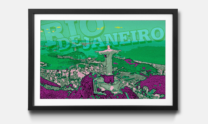 Das gerahmte Wandbild Rio