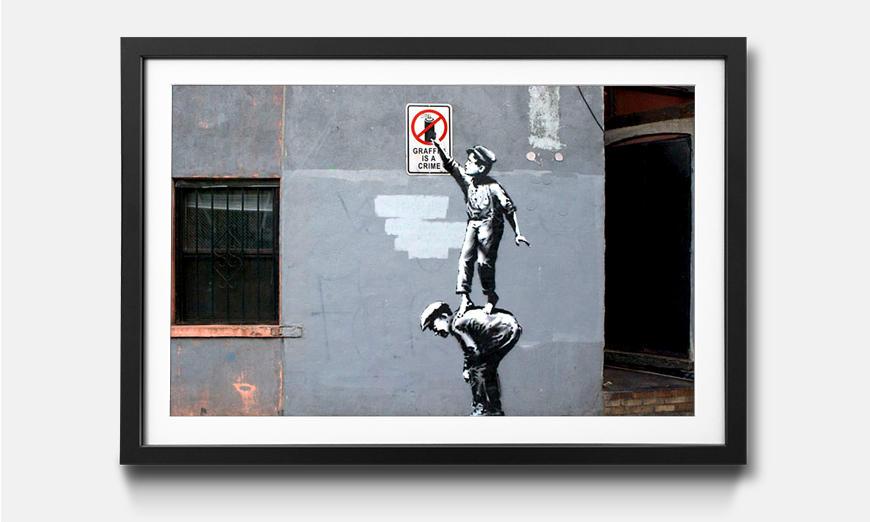 Das gerahmte Wandbild Spray Crime