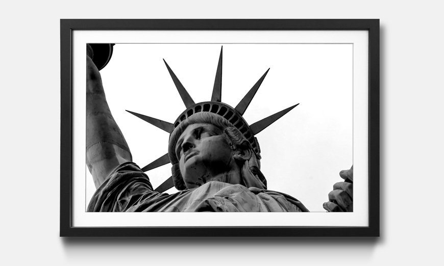 Das gerahmte Wandbild Statue of Liberty