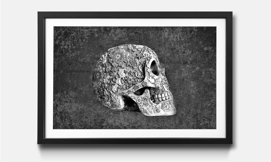 Das gerahmte Wandbild Suger Skull