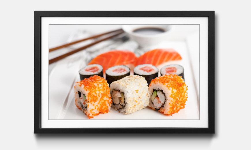 Das gerahmte Wandbild Sushi