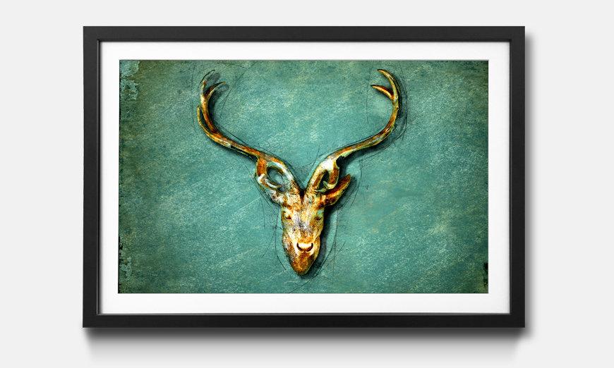Das gerahmte Wandbild The Deer