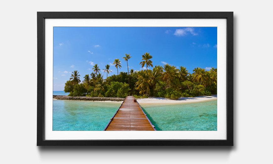 Das gerahmte Wandbild Tropical Maldives