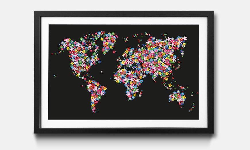Das gerahmte Wandbild World Flowers