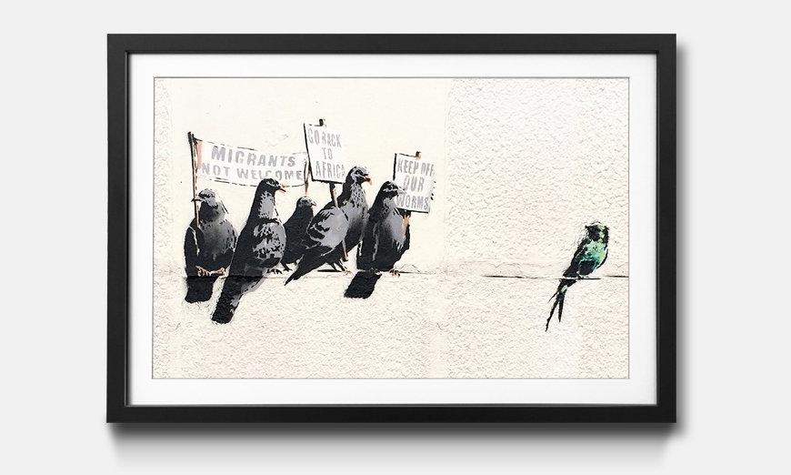 Der gerahmte Druck Banksy No.11