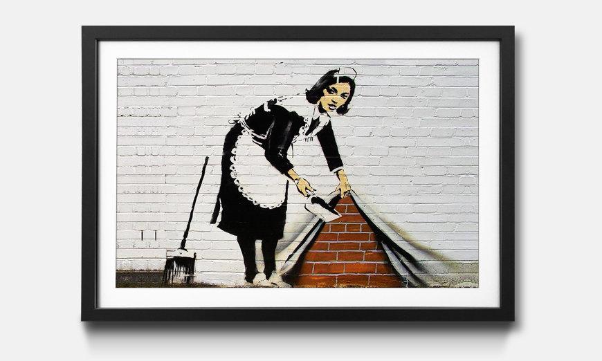 Der gerahmte Druck Banksy No.19