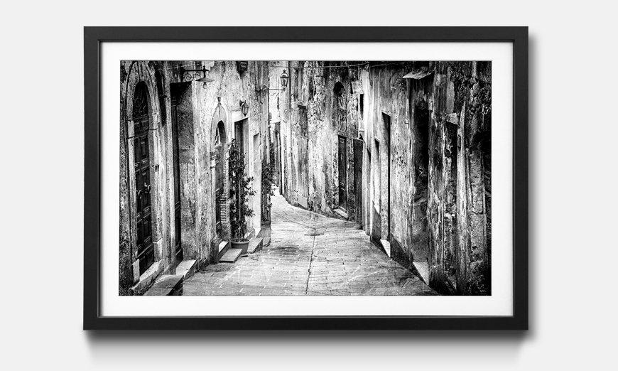 Der gerahmte Druck Charming Old Streets