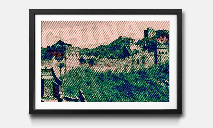 Der gerahmte Druck China