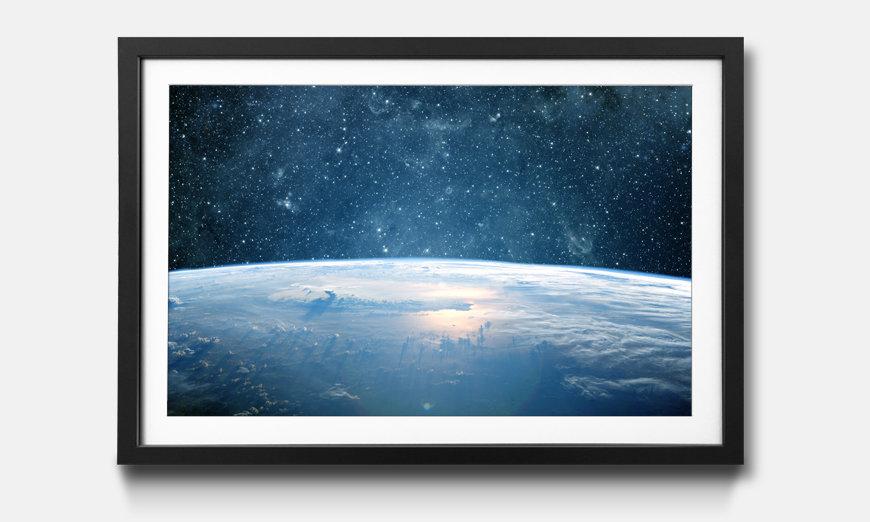 Der gerahmte Druck Earth Planet
