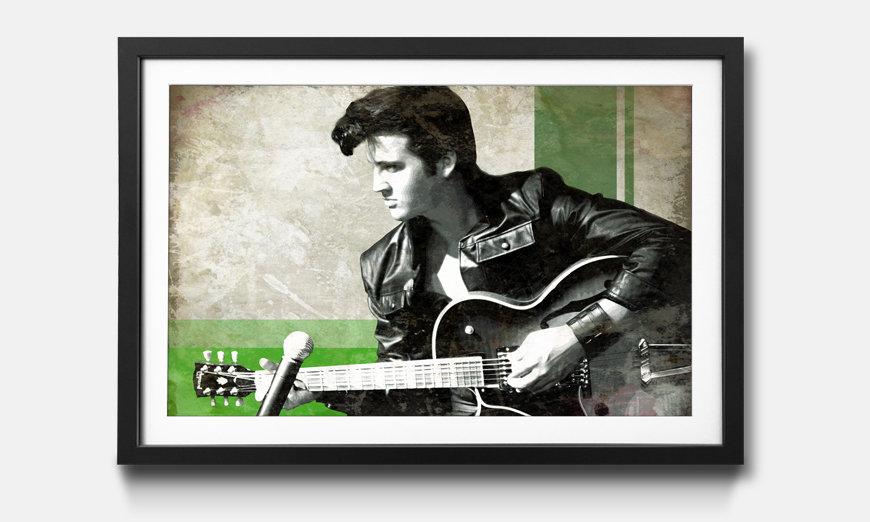 Der gerahmte Druck Elvis