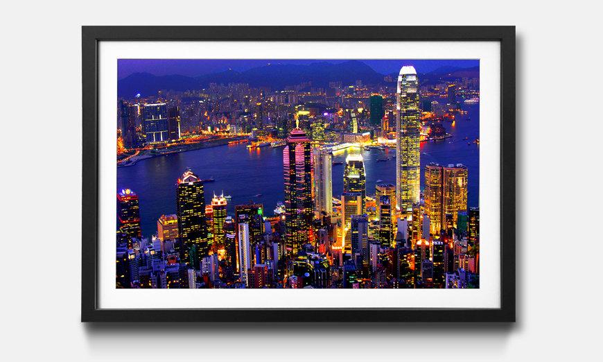 Der gerahmte Druck Hong Kong View