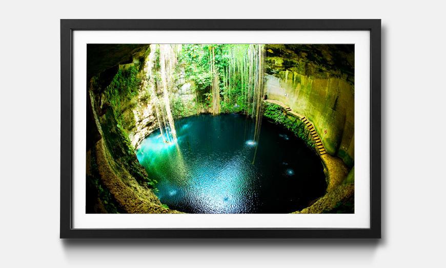 Der gerahmte Druck Ik Kil Cenote