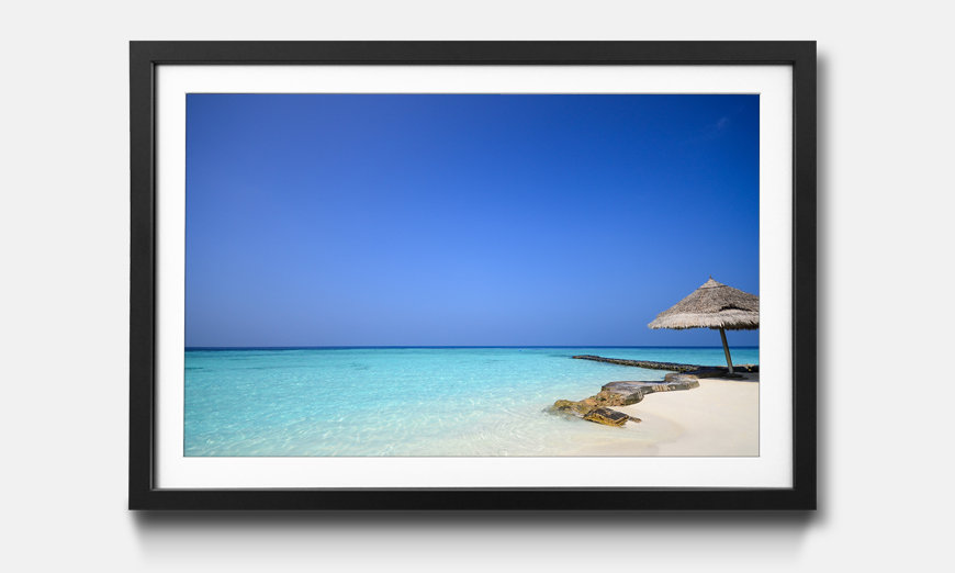 Der gerahmte Druck Maldives Beach