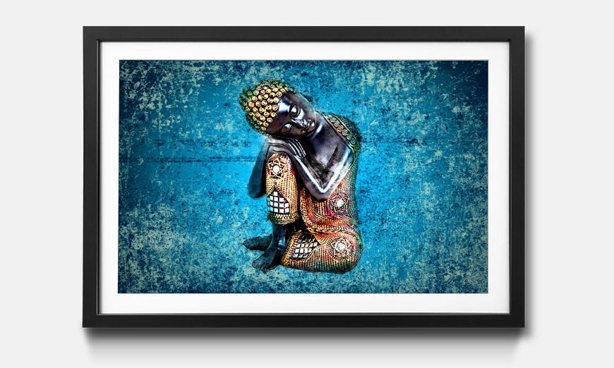 Der gerahmte Druck Sleeping Buddha