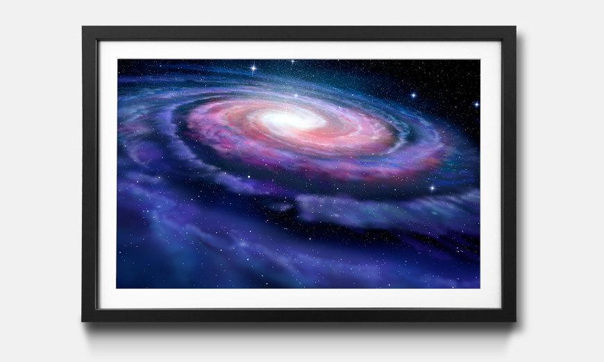 Der gerahmte Druck Spiral Galaxy