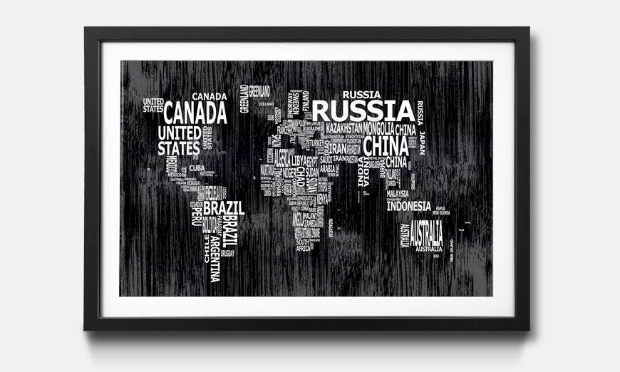 Der gerahmte Druck Worldmap No.13