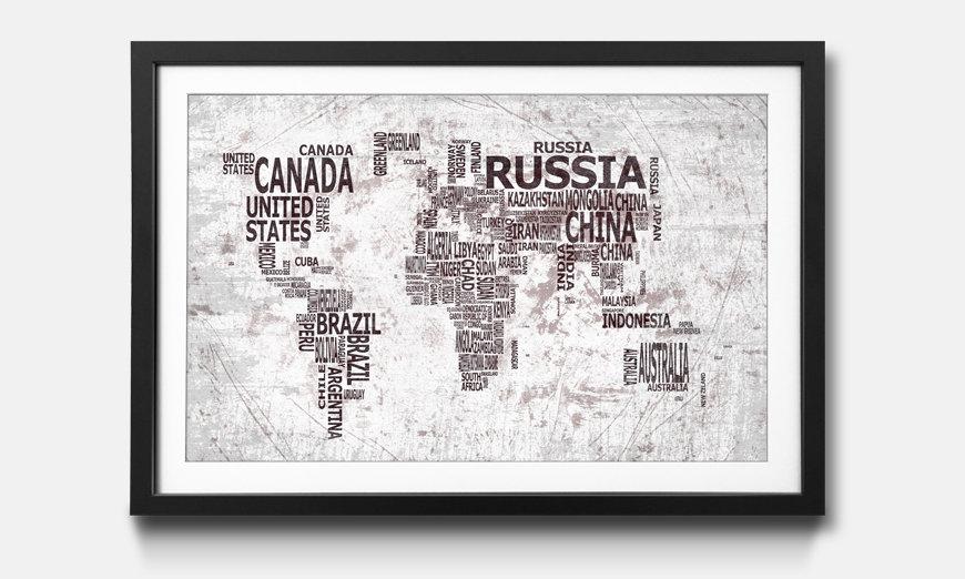 Der gerahmte Druck Worldmap No.22