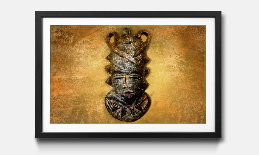 Der gerahmte Kunstdruck African Mask