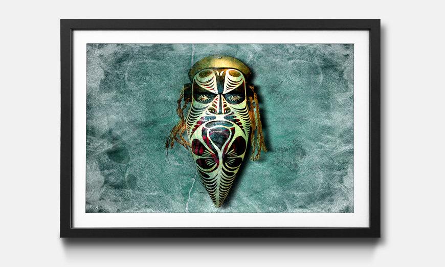 Der gerahmte Kunstdruck Afrikan Style