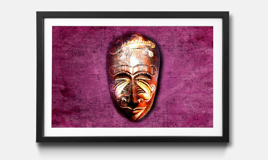 Der gerahmte Kunstdruck Afro Moment