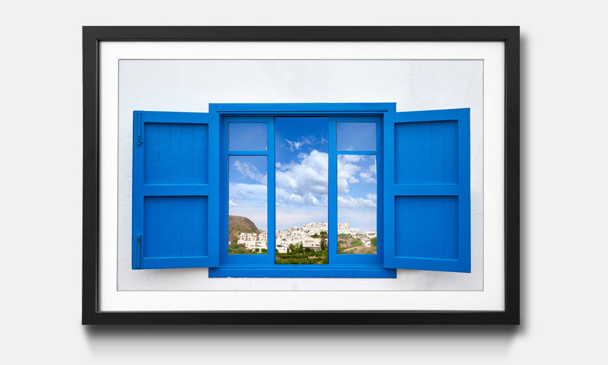 Der gerahmte Kunstdruck Almeria View