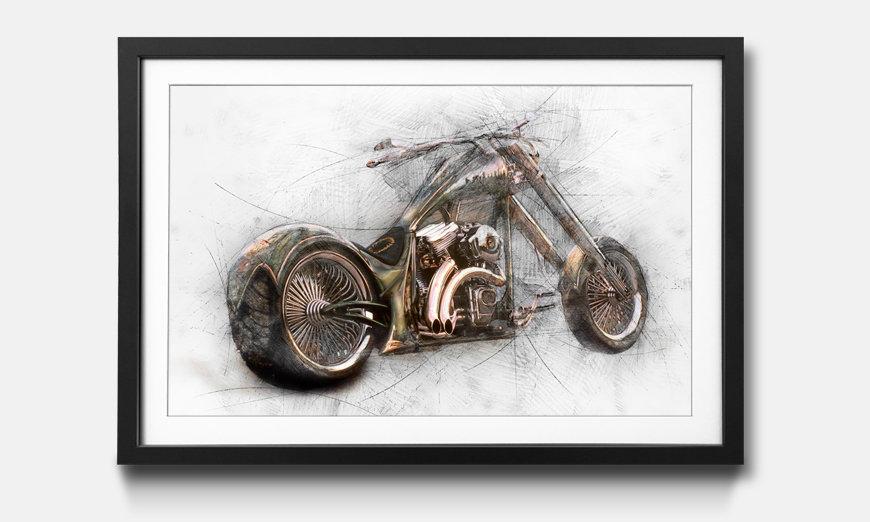 Der gerahmte Kunstdruck Bad Bike
