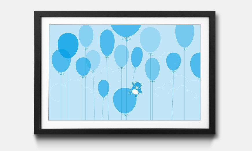 Der gerahmte Kunstdruck Ballons