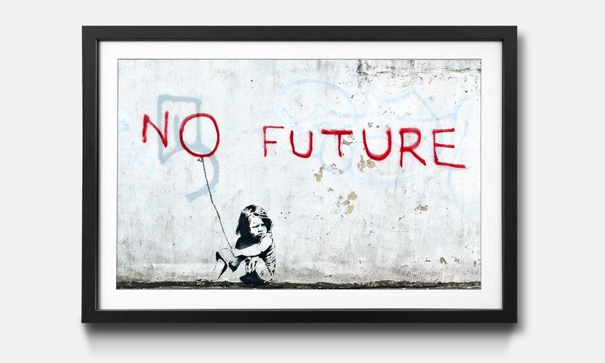 Der gerahmte Kunstdruck Banksy No.10