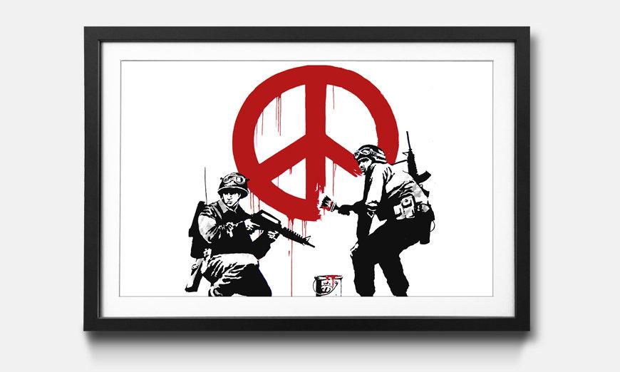 Der gerahmte Kunstdruck Banksy No.15