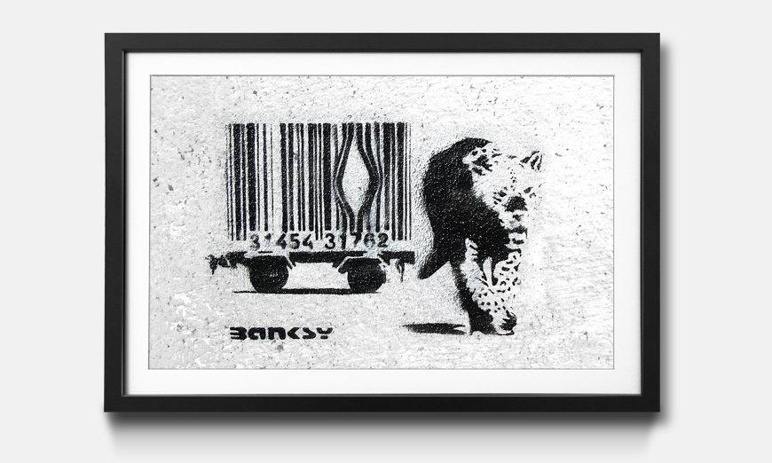 Der gerahmte Kunstdruck Banksy No.5
