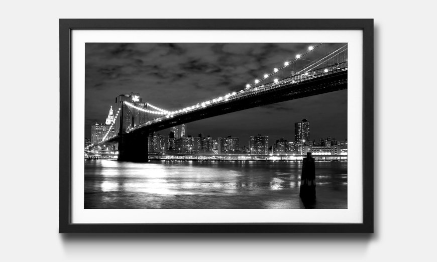 Der gerahmte Kunstdruck Brooklyn Bridge
