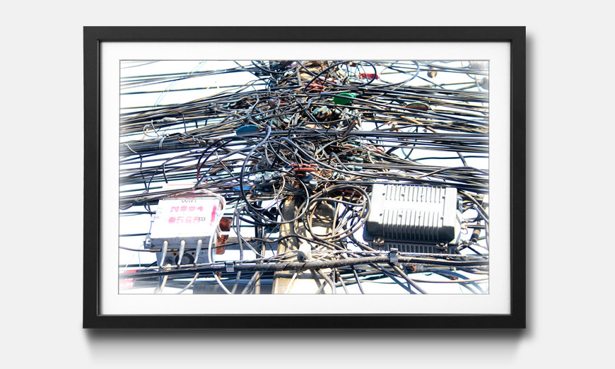 Der gerahmte Kunstdruck Cable Chaos