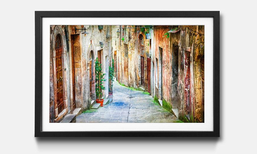 Der gerahmte Kunstdruck Charming Old Streets