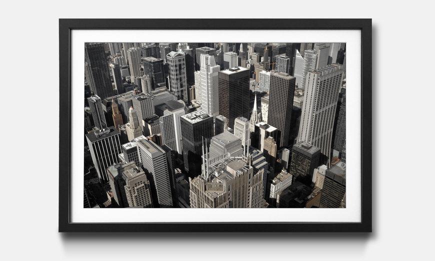 Der gerahmte Kunstdruck City Of Chicago