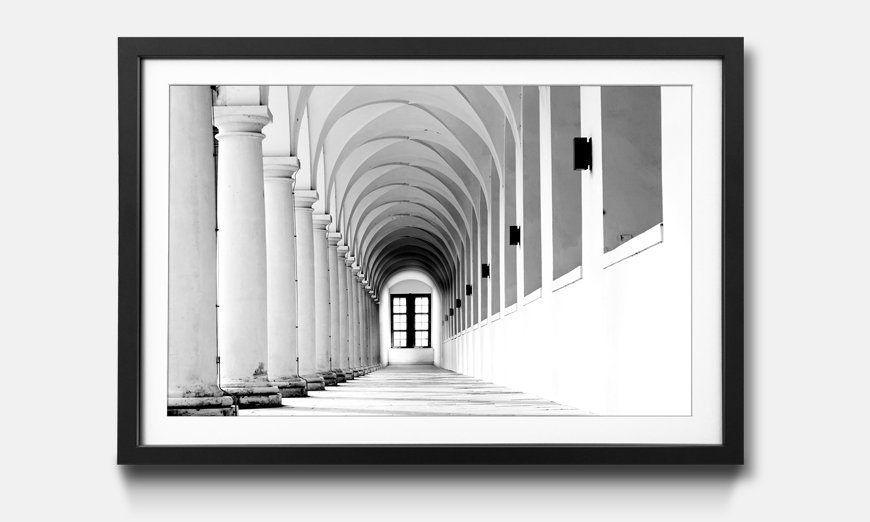 Der gerahmte Kunstdruck Columns Gallery