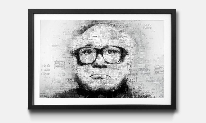 Der gerahmte Kunstdruck De Vito