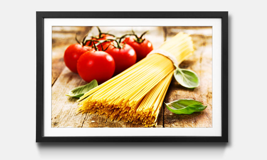 Der gerahmte Kunstdruck Favorite Pasta
