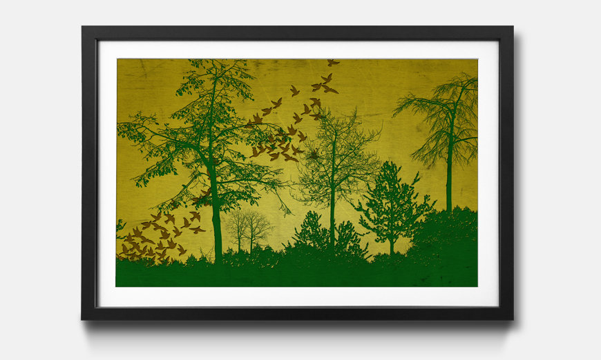 Der gerahmte Kunstdruck Forest