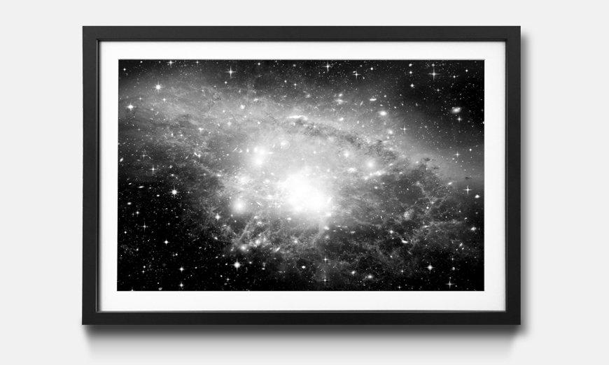 Der gerahmte Kunstdruck Galaxy
