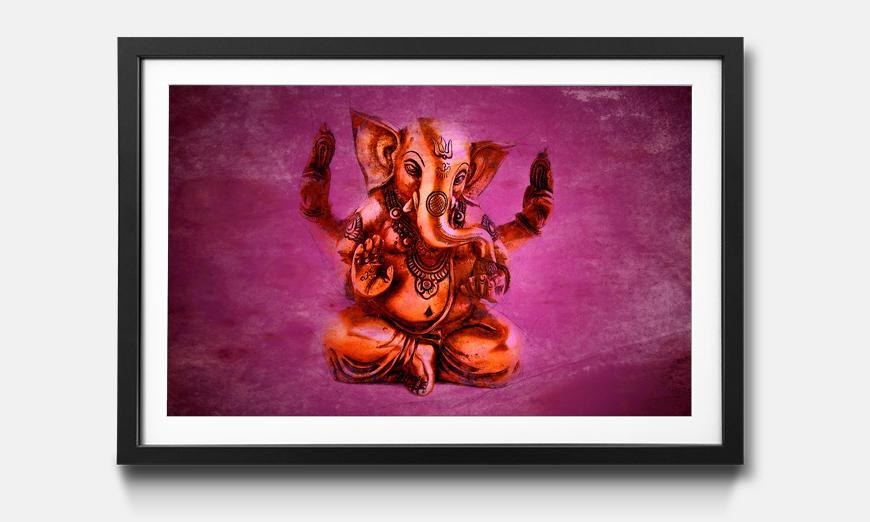 Der gerahmte Kunstdruck God Ganesha