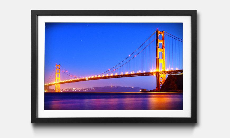 Der gerahmte Kunstdruck Golden Gate
