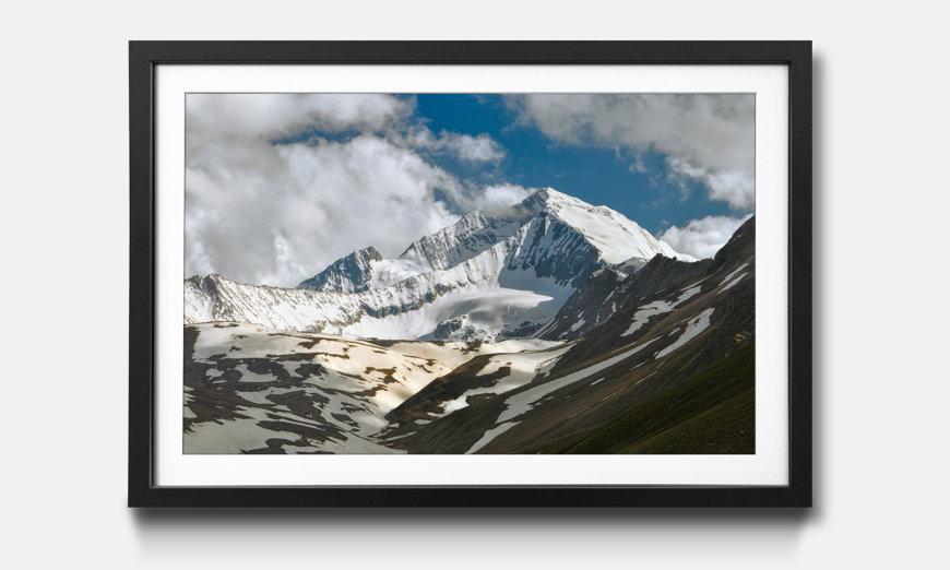 Der gerahmte Kunstdruck Himalaya