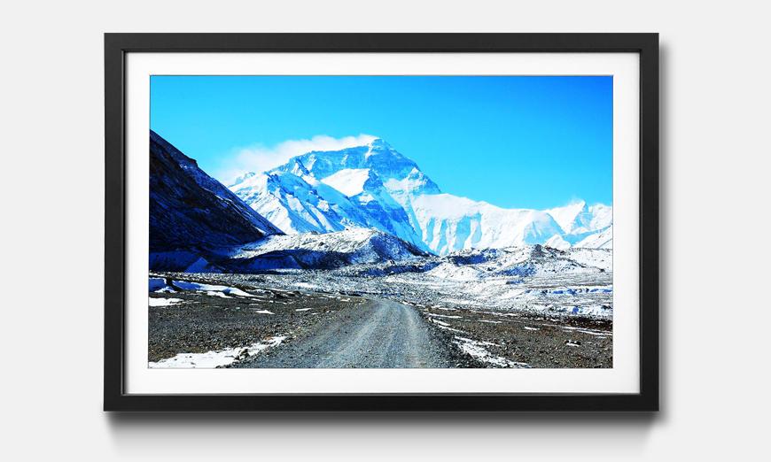 Der gerahmte Kunstdruck Icy Beauty