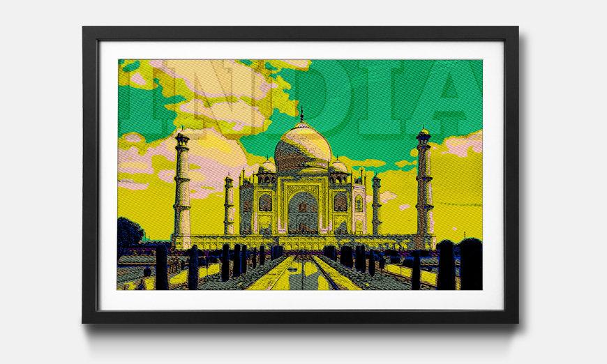 Der gerahmte Kunstdruck India
