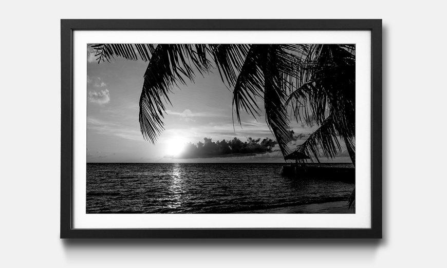 Der gerahmte Kunstdruck Maldives