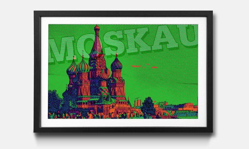 Der gerahmte Kunstdruck Moskau